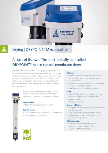 Drying system DRYPOINT M eco control
