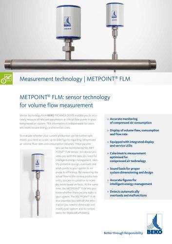Volume flow measurement with METPOINT FLM