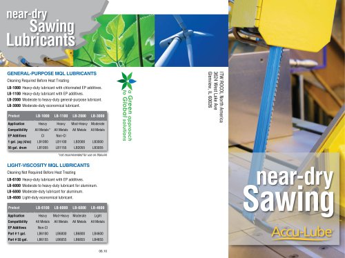 Near-Dry Sawing