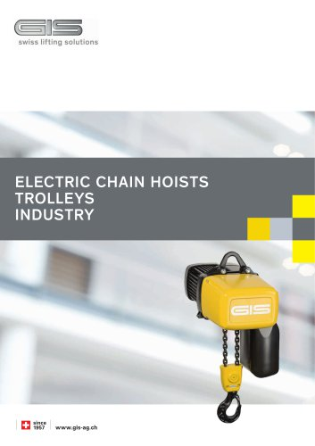 Electric chain hoist GP up to 6300 kg