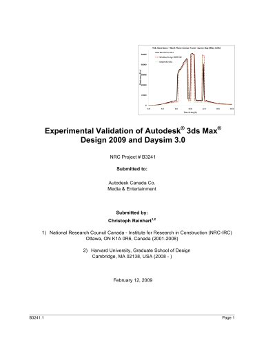 Experimental Validation of Autodesk®  3ds Max®