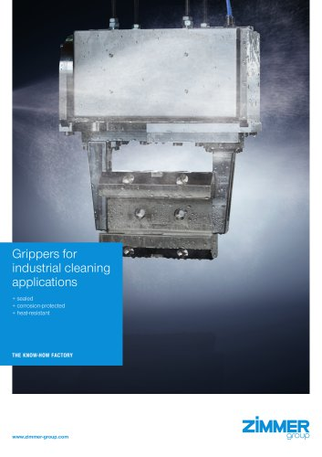 Grippers for industrial cleaning applications