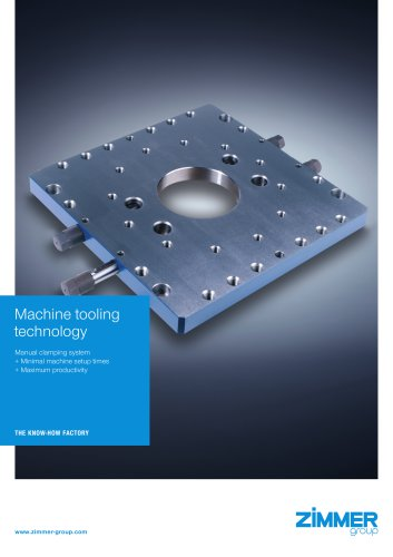 Machine tooling technology Manual clamping system