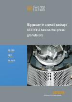 Big Power in a Small Package GETECHA Beside-the-Press Granulators
