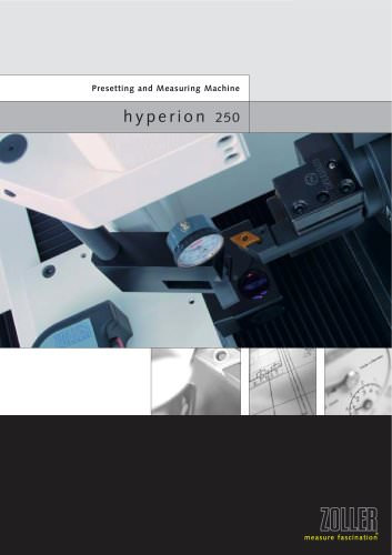 Horizontal tool presetter and measuring machine »hyperion«