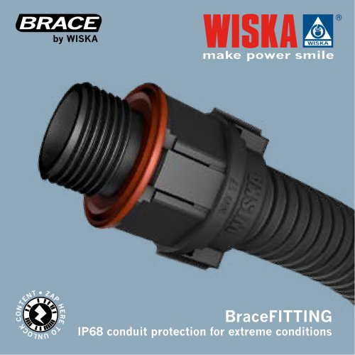 BraceFITTING IP68 conduit protection for extreme conditions