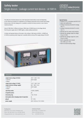 Data sheet AI 5001A