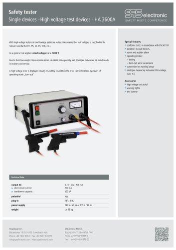 Data sheet HA 3600A