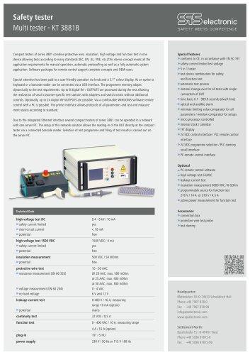 Data sheet KT 3881B
