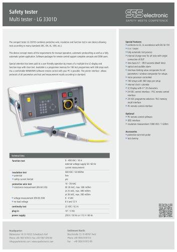 Data sheet LG 3301D