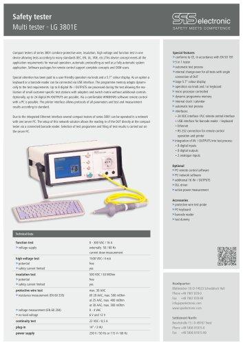 Data sheet LG 3801E