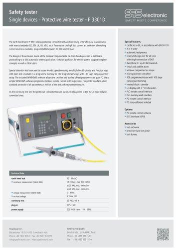 Data sheet P 3301D