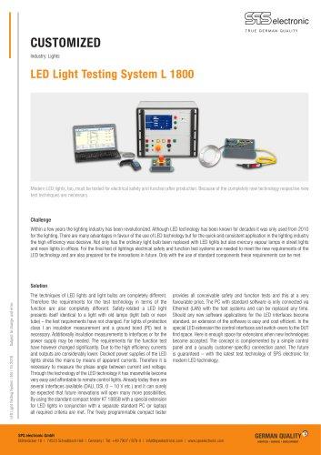 LED Light Testing System L 1800