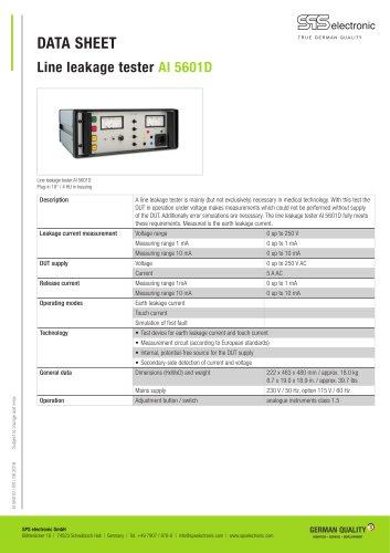 Line leakage AI 5601D