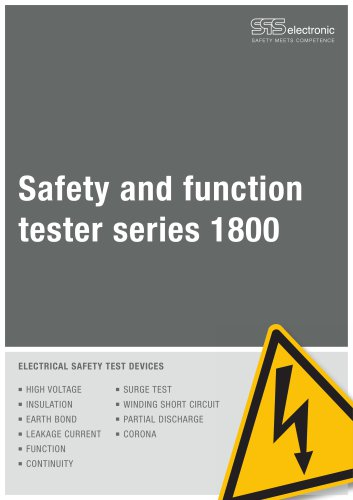 Safety and function tester series 1800