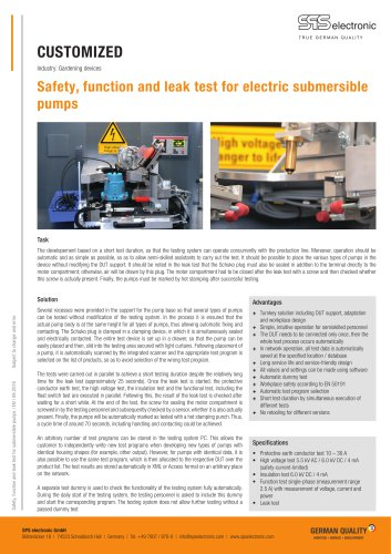 Safety, function and leak test for electric submersible  pumps