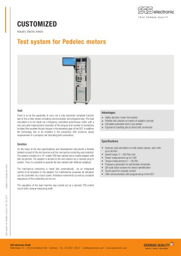 Test system for Pedelec motors