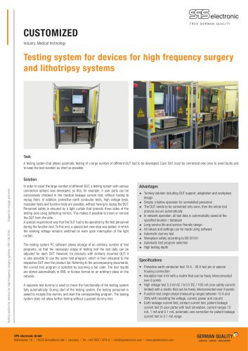 Testing system for devices for HF surgery systems