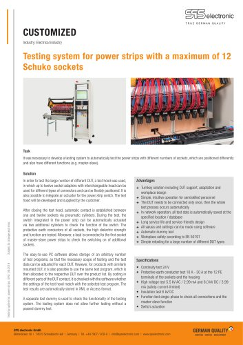 Testing system for power strips