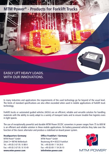 MTM Power - Products for Forklift Trucks