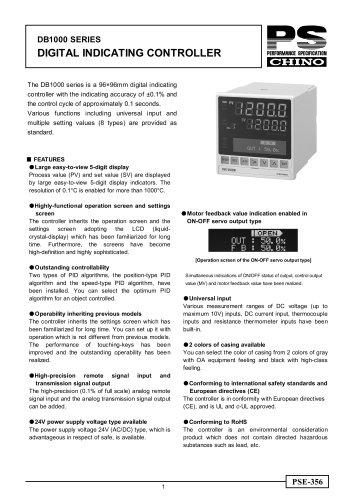 Digital Indicating Controller DB1000
