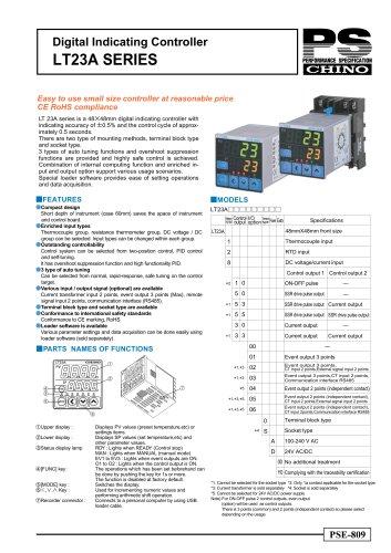 Digital Indicating Controller LT23A SERIES