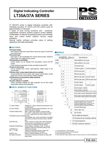 Chino KP1000 digital temperature controller with users instruction manual