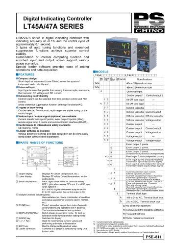 Digital Indicating Controller LT45A/47A SERIES