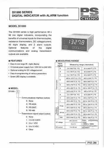 Digital Indicator with Alarm function