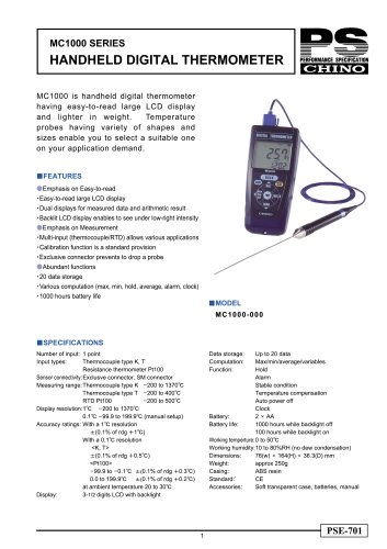 Handheld Digital Thermometer MC1000