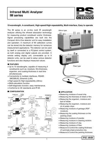 Infrared Multi Analyzer: IM series