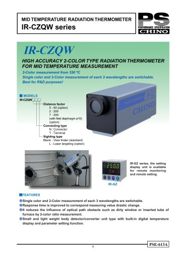 IR-CZQW series
