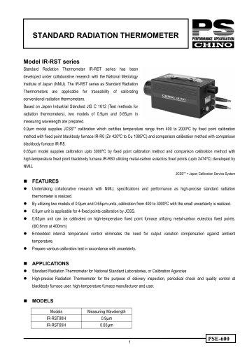 Standard radiation thermometer IR-RST