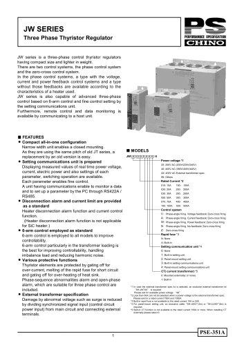 THYRISTOR REGULATORS Three-Phase http://www.chino.co.jp/english/products/regulators/jw.html