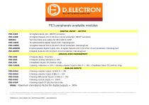 PE3 peripherals available modules - 1