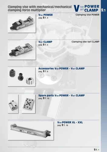 "Clamping equipments ""Vise POWER"" and ""Vari CLAMP"""