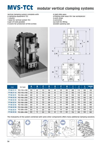 MVS-TCt modular vertical clamping systems
