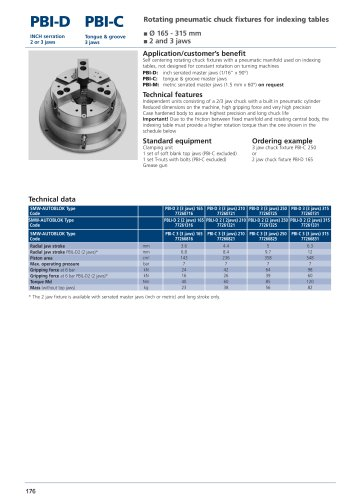 Rotating pneumatic chuck fixtures for indexing tables