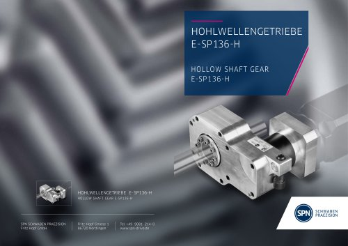 Hollow Shaft Gear E-SP 136-H