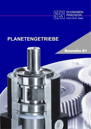 planetary gearboxes model range E1