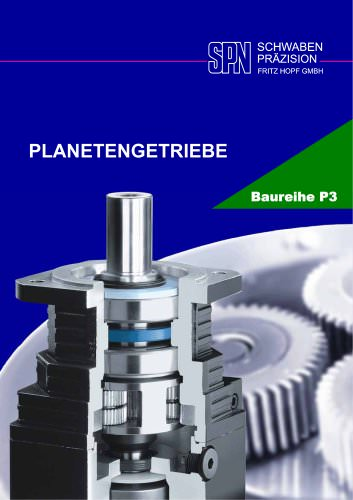 planetary gearboxes model range P3
