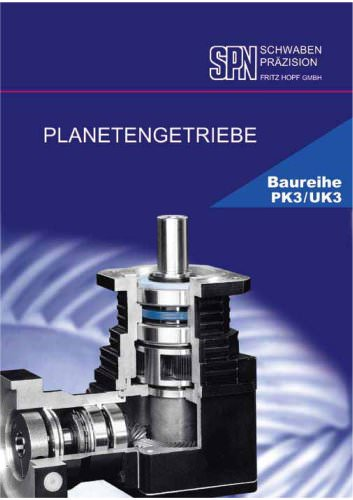 planetary gearboxes model range PK3