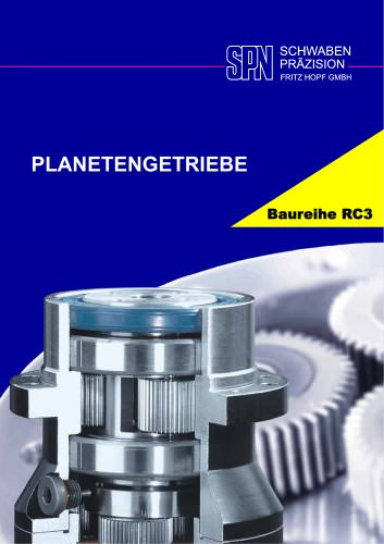 planetary gearboxes model range RC3