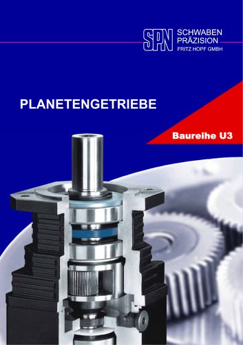 planetary gearboxes model range U3