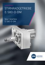 Spur gear E-S80-O-DM Flyer - 1