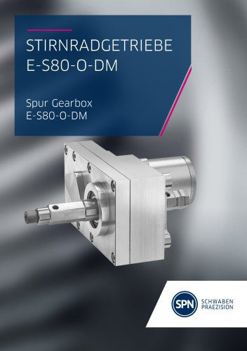 Spur gear E-S80-O-DM Flyer