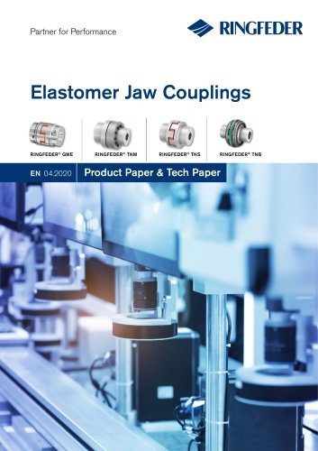Product Paper Elastomer Jaw Couplings RINGFEDER® GWE, TNM, TNS & TNB