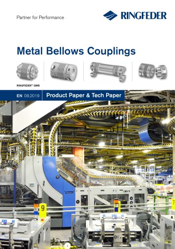 Product Paper Metal Bellows Couplings RINGFEDER® GWB