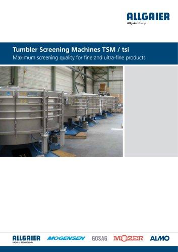 Tumbler Screening Machines TSM / tsi