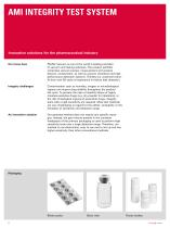 AMI Integrity Test System - Innovative solutions for the pharmaceutical industry - 2